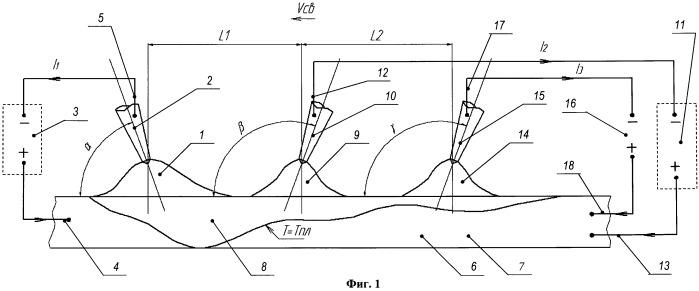 Способ многодуговой сварки листовых сварных заготовок