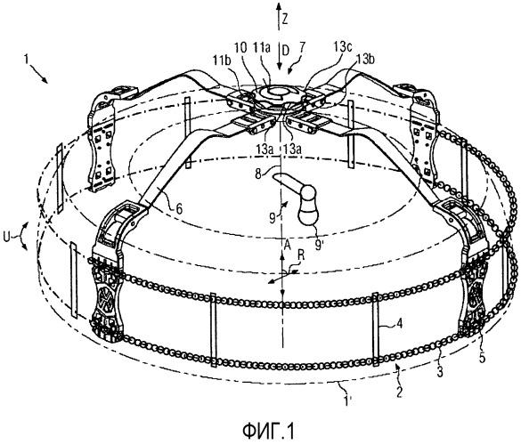 Устройство противоскольжения для колес транспортного устройства с эргономичной рукояткой
