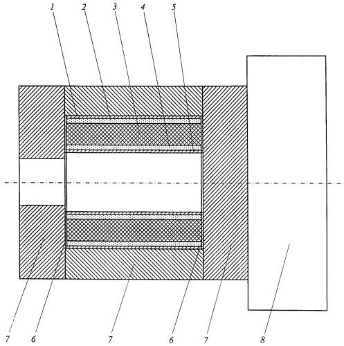Способ изготовления цилиндрической оболочки прочного корпуса подводного аппарата из стеклометаллокомпозита