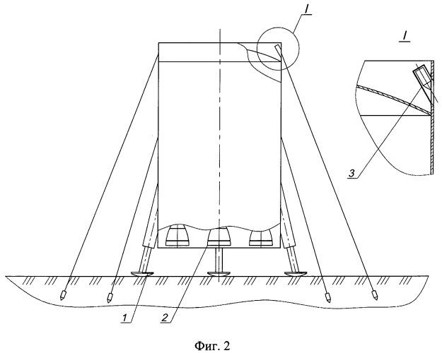 Система мягкой посадки многоразовой ракетной ступени