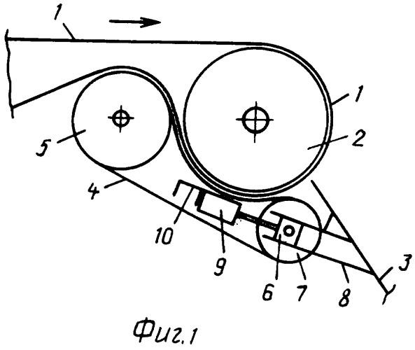 Головной однобарабанный привод ленточного конвейера с прижимной лентой