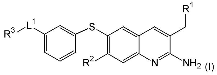 Производные 6-замещенного-тио (или -оксо-)-2-амино-хинолина, применяемые в качестве ингибиторов β-секретазы (bace)