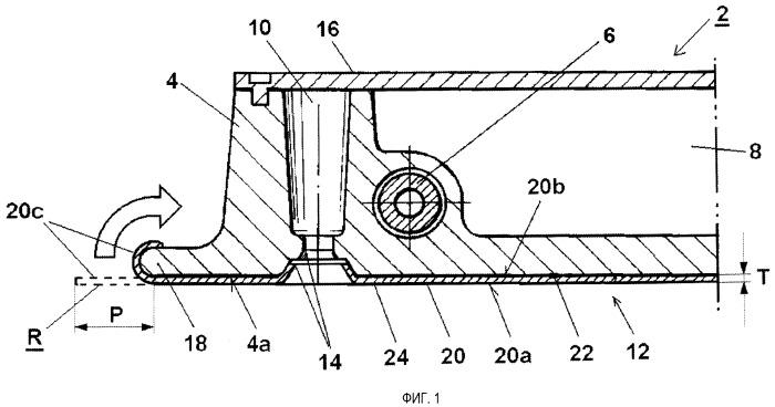 Гладильная подошва, устройство для глажения и способ изготовления гладильной подошвы