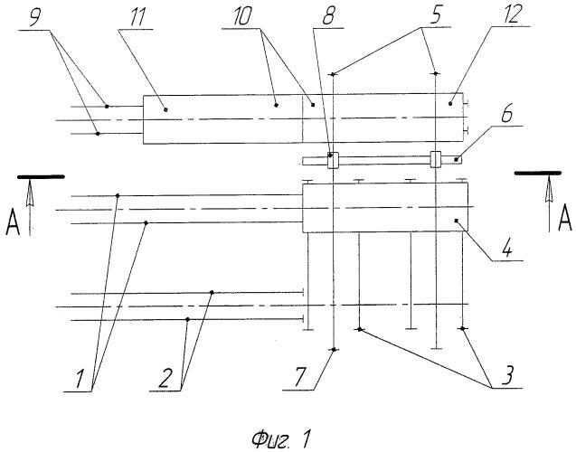 Подвижный склад рельсов звеносборочной линии