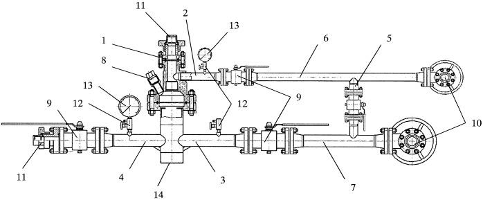 Устьевая арматура для метаноугольных скважин