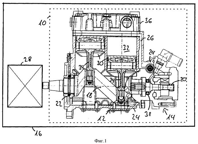 Компрессор с гидравлическим насосом и способ изготовления компрессора с гидравлическим насосом