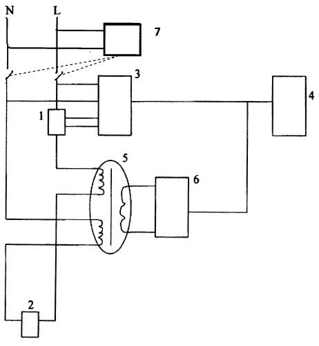 Счетчик электрической энергии с защитным отключением