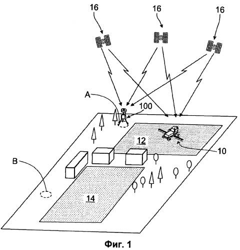 Система и способ определения координат опорного местоположения
