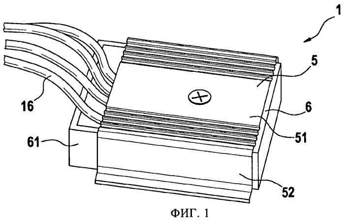Электронный блок с корпусом