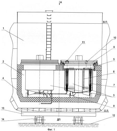 Способ демонтажа кессонов с дефектными отвс из хранилища судов атомно-технологического обслуживания