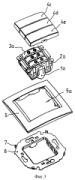 Механизм переключателя на два направления для утопленных электротехнических устройств