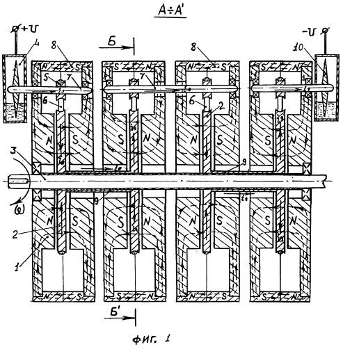 Многодисковая униполярная машина постоянного тока