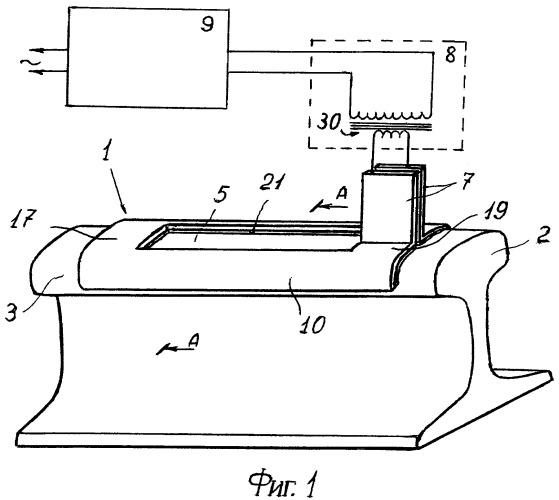 Устройство для нагрева восстанавливаемого в пути участка рельса перед электродуговой наплавкой
