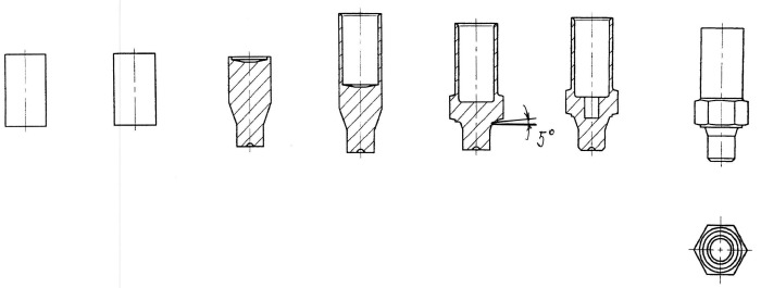Способ изготовления заготовки корпуса наконечника тормозного шланга