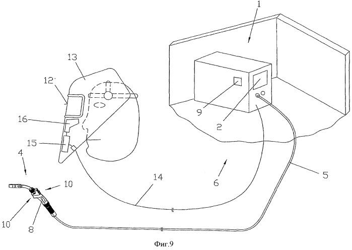 Способ (варианты) и устройство для управления источником тока, а также сварочный шлем для пользователя источником тока