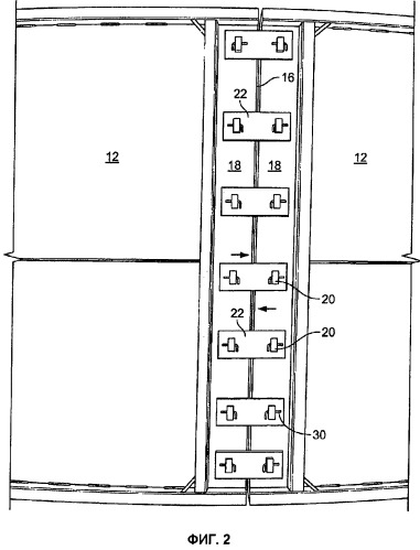 Крепежный узел для контейнеров