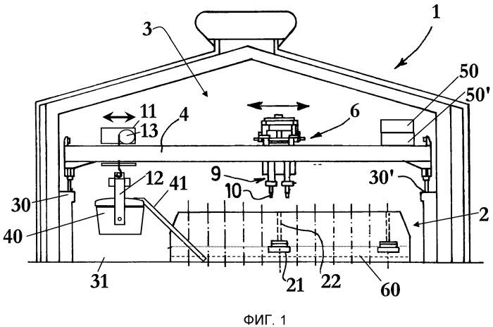 Машина обслуживания, применяющаяся для вмешательства в электролизеры для производства алюминия электролизом расплава