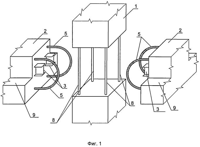 Способ изготовления сборно-монолитного узла соединения колонны с ригелем