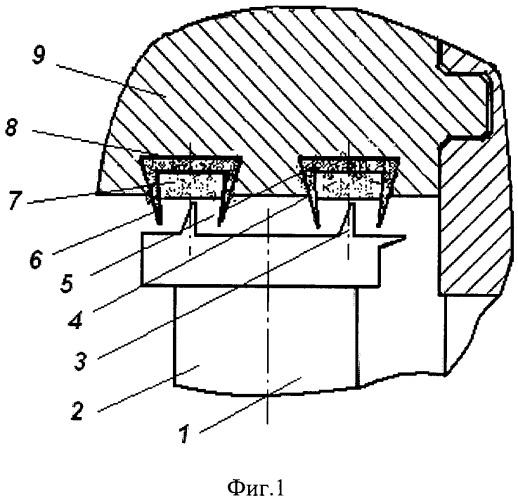 Надбандажное прирабатываемое уплотнение для паровой турбины