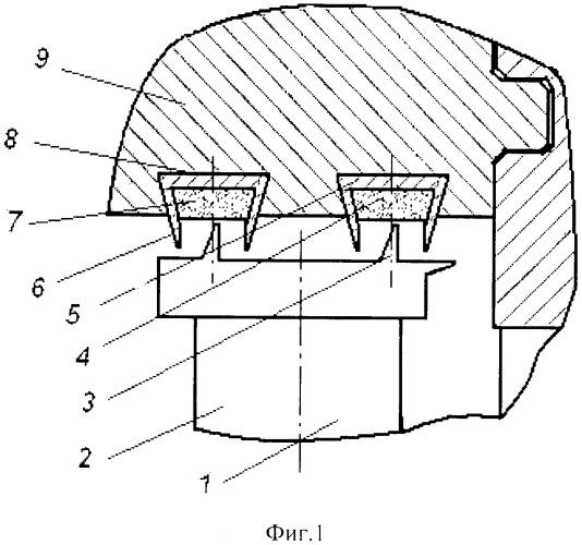 Лабиринтное надбандажное уплотнение для паровой турбины