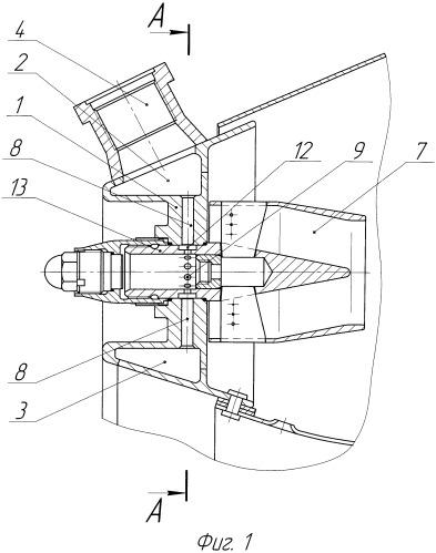 Фронтовое устройство жаровой трубы кольцевой камеры сгорания