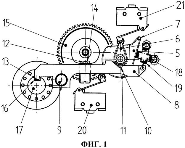Ручной привод для переключателей ответвлений обмотки ступенчатых трансформаторов
