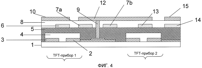 Конфигурация смещенного верхнего пиксельного электрода