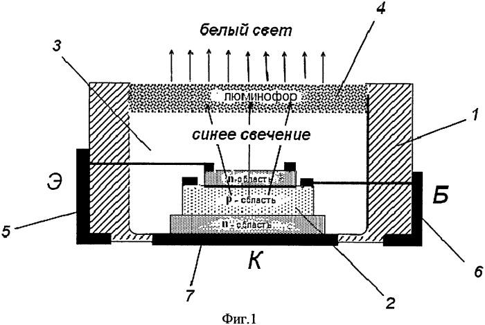 Светотранзистор белого света