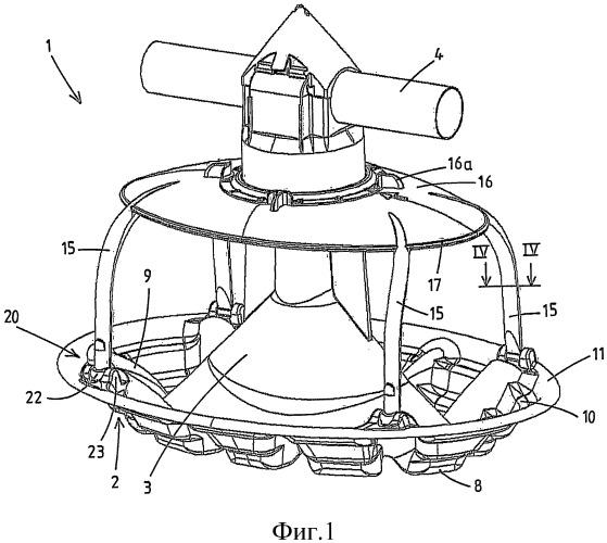 Подающее устройство для домашней птицы, имеющее периферийно замкнутые прутья или другие части с неострыми краями, ограничивающие кормовые отверстия между прутьями