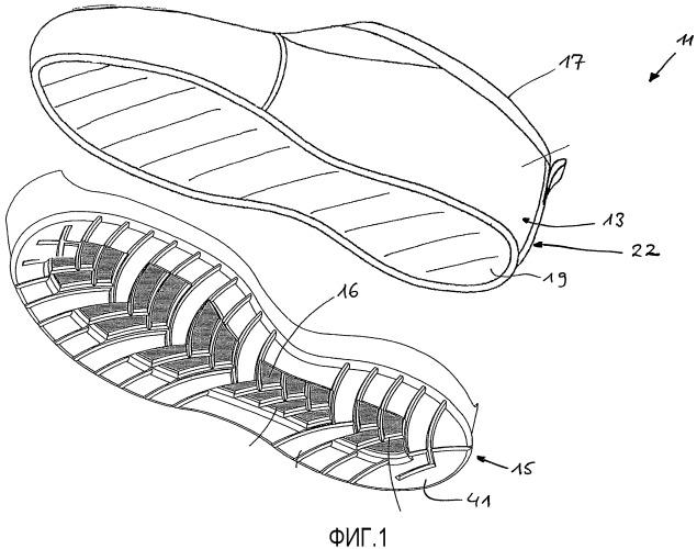 Подошвенный узел для обувного изделия и снабженное им обувное изделие