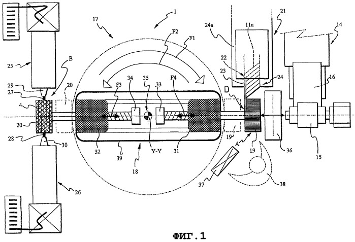 Способ и установка для производства шин для колес транспортного средства