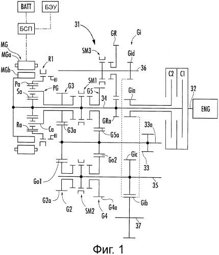 Устройство управления запуском двигателя для гибридного автомобиля