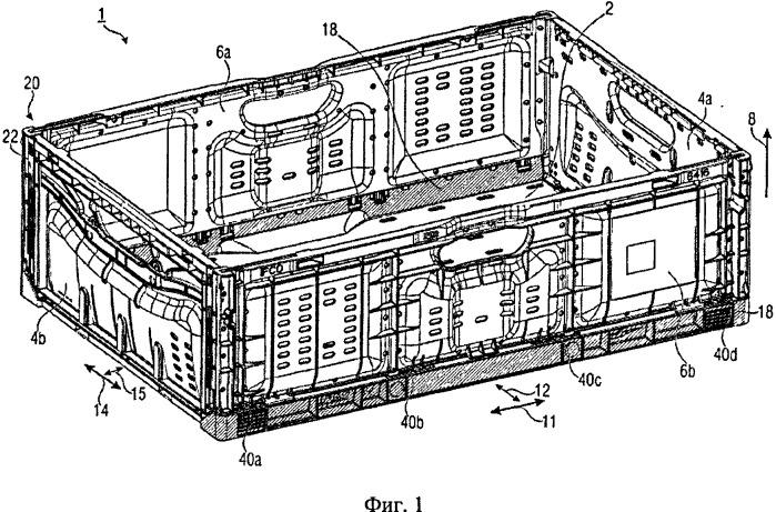 Ящик, имеющий складные и разборные внешние стенки
