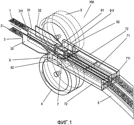 Способ параллельного изготовления нескольких волокнистых лент и устройство для осуществления этого способа