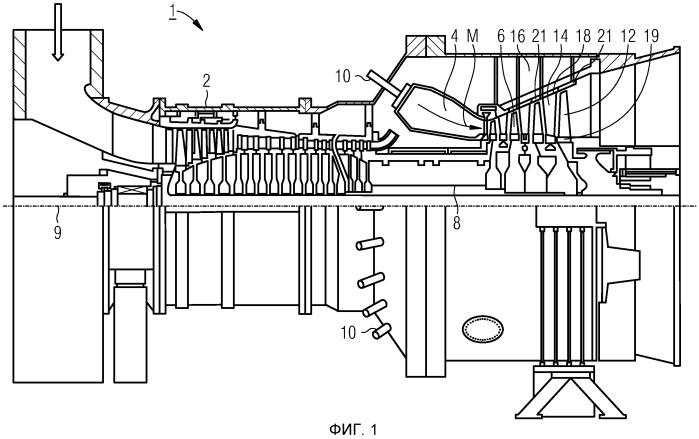 Газовая турбина, снабженная предохранительной пластиной между ножкой лопатки и диском