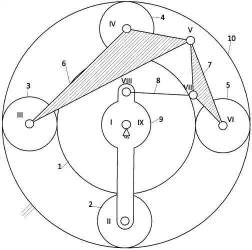 Четырёхсателлитный планетарный редуктор