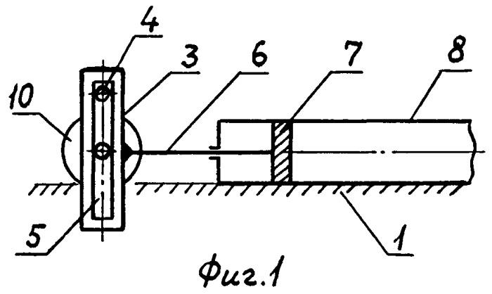 Кривошипно-кулисный механизм с поступательно движущейся кулисой