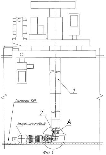 Устройство для подъема и перемещения ампул с пучками отработавших тепловыделяющих элементов