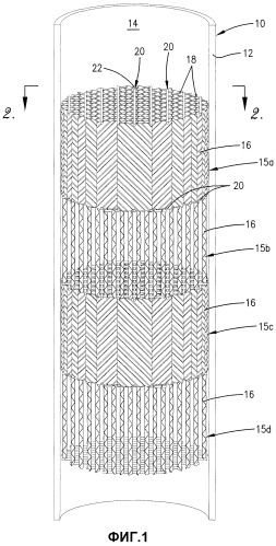 Структурированный насадочный модуль для массообменной колонны и способ его использования