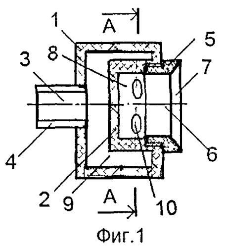 Широкофакельная центробежная форсунка