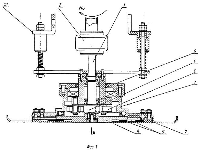 Дисковый рабочий орган бетоноотделочной машины с знакопеременным магнитным полем