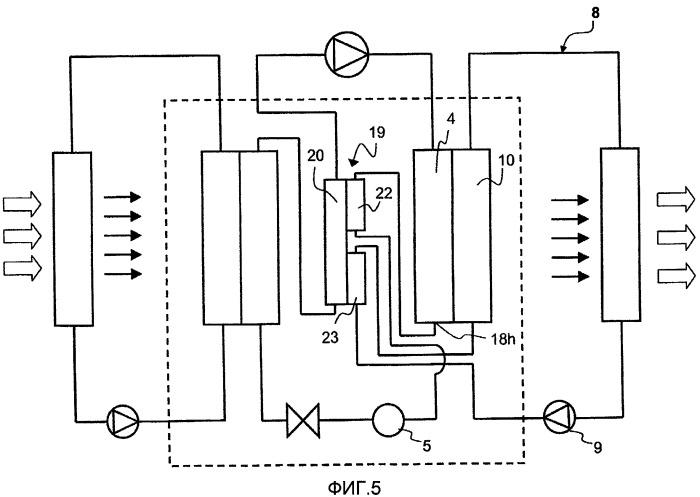 Система и устройство, содержащие объединенные конденсатор и испаритель