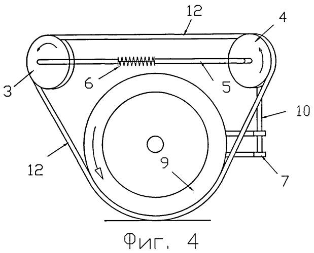 Способ перехода транспортных средств с колесного хода на колесно-сцепной и обратно и устройство преобразования движителей