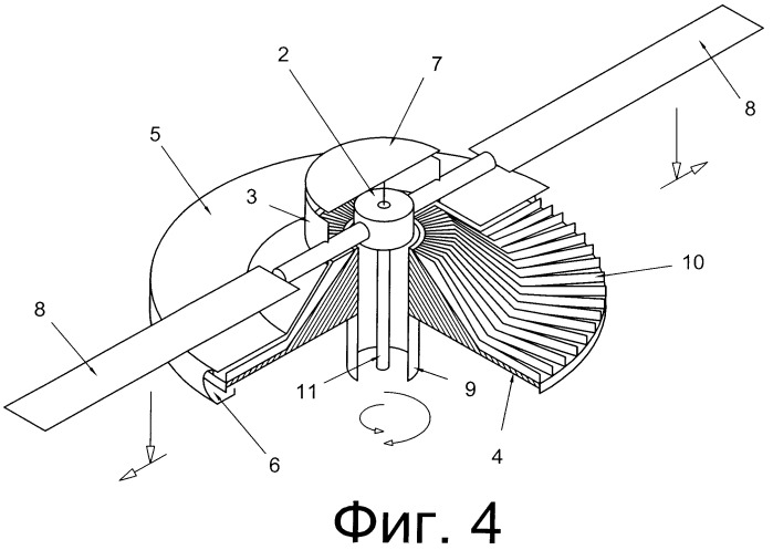 Винтовой движитель с центробежным усилителем