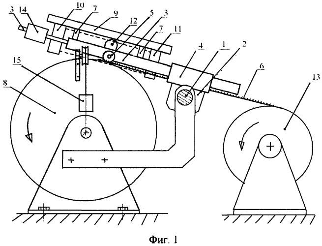 Устройство для обтяжки барабанов и валиков чесальной машины цельнометаллической пильчатой лентой