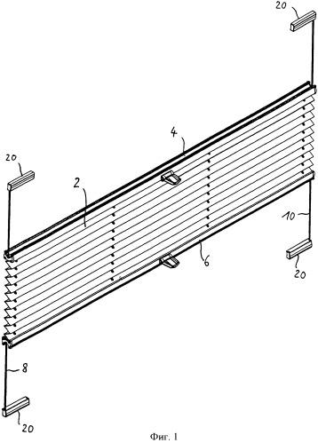 Натяжное устройство для шнура и оборудованная им штора