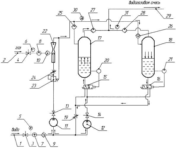 Установка для водогазового воздействия на нефтяной пласт