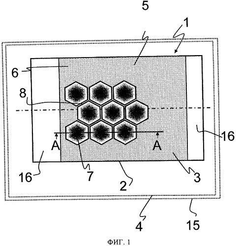 Сотовый элемент с профилированным металлическим листом