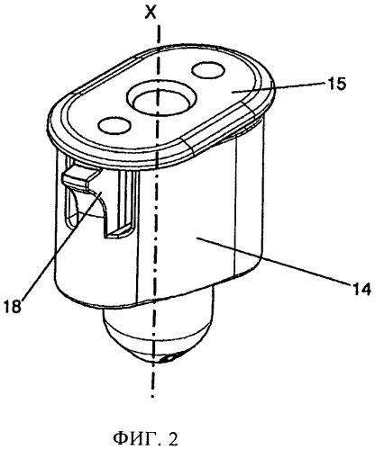 Крепежное устройство, имеющее пластмассовую гайку