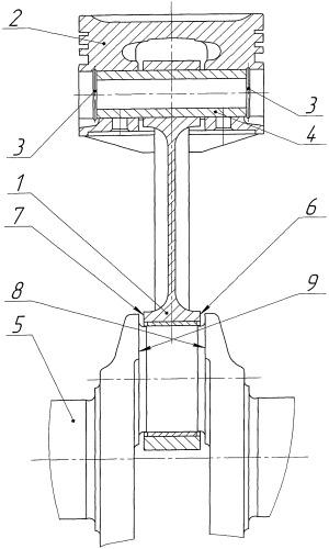 Способ осевой фиксации шатуна двигателя внутреннего сгорания